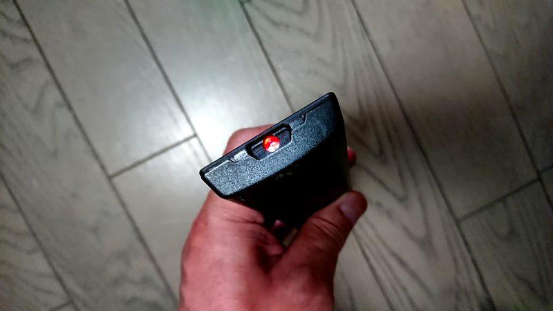 リモコン ボタン押下赤ランプ